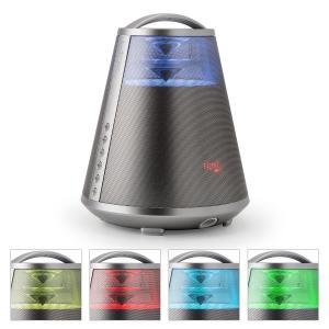 FREESOUND65 Bluetooth-Lautsprecher Akku 360° Sound LED AUX USB SD UKW silber Silber