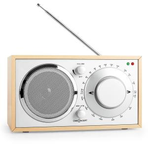 1960s Retro Style Kitchen FM Radio AUX Oak