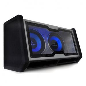 "Dual In Car Hifi Subwoofer 2x12"" Bass + Light Effects 30 cm (12"")"
