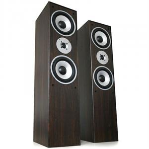 L 766 Hifi Home Theatre Floor Standing Speakers - Pair Walnut Brown