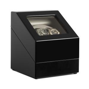 Horlogewinder Display vitrine 2 horloges Horloge Winder Zwart/ 2 uur