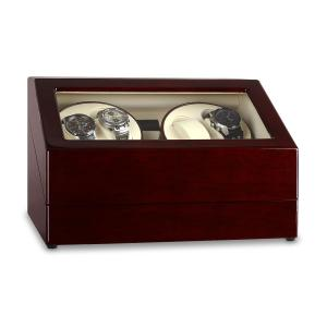 Classic Watch Winder Display Case - Holds 10 Watches Pure Handmade brown/ 10 clocks