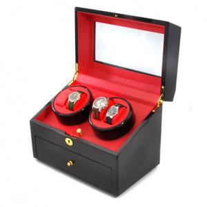 Elegant Motorized Watch Winder Display Case - 10 Watches black / 10 clocks