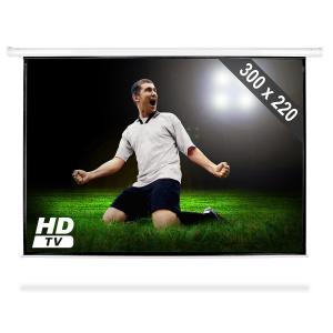 Ekran ramowy zwijany 300x220 cm kino domowe HDTV4:3