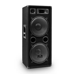 "PW-2222 3 Way DJ PA Speaker 2 x 12"" (30cm) 1000W Black 
