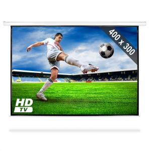 Motorised Cinema Projector Screen HDTV 400 x 300cm