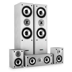 Multicav Surround Sound Speaker Set 1150 Watts MAX - Silver White
