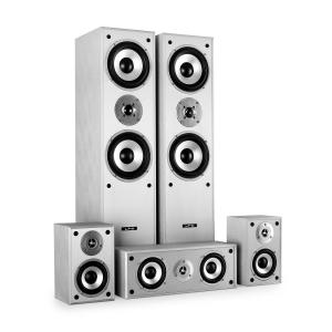 LTC Multicav Surround Sound Speaker Set 1150 Watts MAX - Silver White