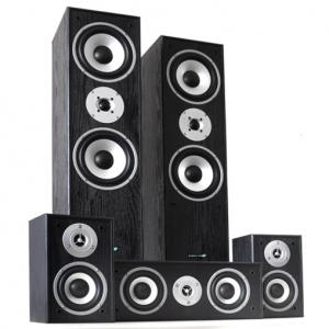 Multicav Enceinte Hifi surround home cinema 5.0 5.1 Noir
