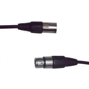 DMX Lighting Control Cable 3-pole - 10 Meter, Ø 4mm
