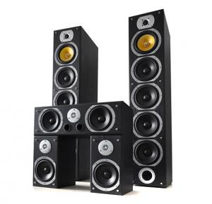 V9B 5 Channel Home Theatre Speakers Set Black 1240W MAX Black