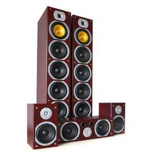 V9B surround speaker set mahonie, 5 stuks, 1240W. Mahonie