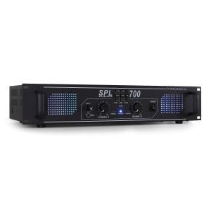 SPL700 DJ PA audio LED versterker 2000W equalizer Zwart | Equalizer | 2x 350 W (4 Ohm) / 2x 250 W (8 Ohm)