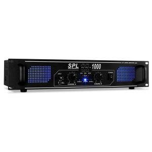 SPL1000 DJ PA audio LED versterker 2800W equalizer Zwart | Equalizer | 2x 500 W (4 Ohm) / 2x 350 W (8 Ohm)