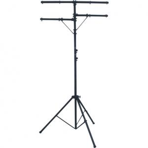 2 Tier Collapsible Tripod DJ Disco Light Stand - 50kg dual cross beam