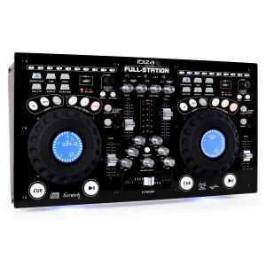 Full-Station DJ Set Dual CD/MP3 Player Scratch Mixer USB SD Black