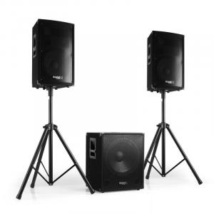 Cube15 2.1 aktives PA Set 1xSubwoofer 2xSatellit 2xStativ 800W