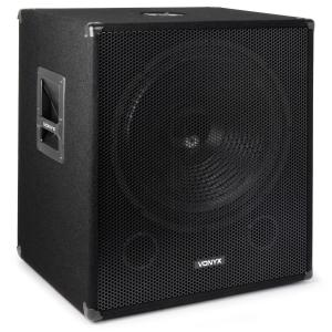 VONYX / Skytec bassbox 1000 W 45 cm subwoofer low pass-filter