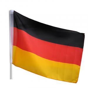 WM Fahne 2018 Auto Fahne Deutschland Schwarz Rot Gold Fussball Flagge Stiellänge 41,5cm