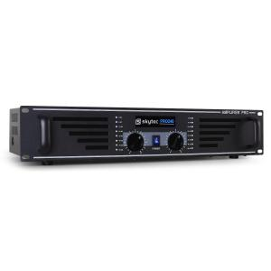 "PA-240 Watt DJ PA Amplifier 19"" Rack Mountable - Black Black"