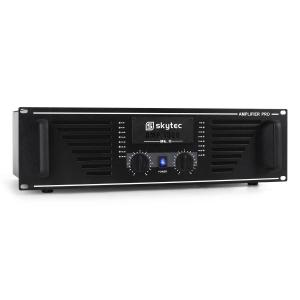 "PRO-1500 Watt DJ PA Amplifier 19"" Rack Mountable - Black"