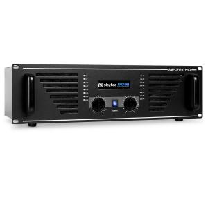 "PA-1000 Watt DJ PA Amplifier 19"" Rack Mountable - Black"