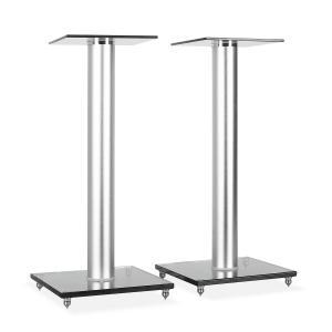 Dos soportes de vidrio para altavoz. 58 cm de altura