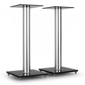 Soportes de vidrio y aluminio altavoces. 58 cm de altura