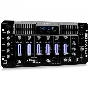 DJM-102 4-kanals mixer LED eko-effekt battle prof