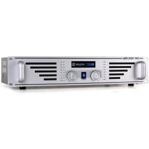 SKY-240 amplituner - wzmacniacz DJ 2 x 240W srebrny Szary