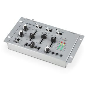TMX-2211 3/2 Channel Party DJ Mixer with Talkover Silver