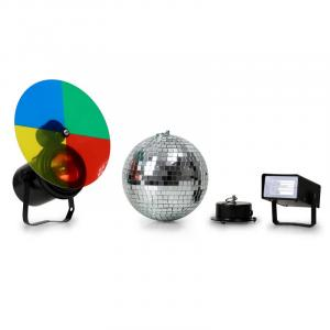 Disco Ball, Strobe and Multi Color Spotlight Set