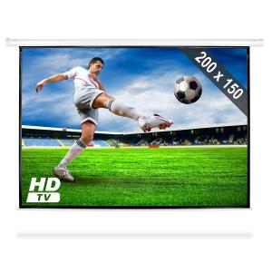 Roll-up Home Cinema Projector Screen HDTV 200x150cm