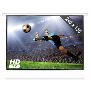 Ekran projekcyjny rozwijany 240x135cm kino domowe HDTV 16:9