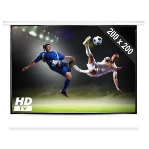 Motor projektorduk hemmabio beamer HDTV 200x200cm 1:1