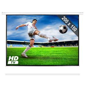 Motorised Home Cinema Projector Screen HDTV 200x150cm 4:3