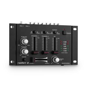 TMX-2211 3/2-Kanal DJ Mixer Mischpult Talkover Party Schwarz