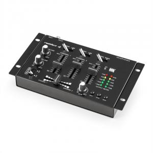 TMX-2211 3/2 Channel Party DJ Mixer with Talkover Black