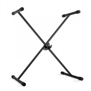 Keyboard stand height adjustable black metal