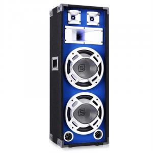 "800W DJ PA Blue LED Dual 10"" Passive Speaker"