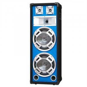 "600W DJ PA Blue LED Dual 8"" Passive Speaker"