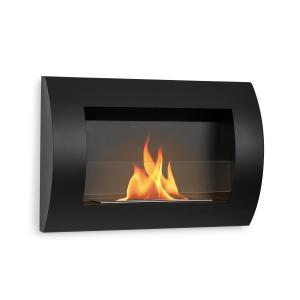 Phantasma Curve Ethanol FireplaceSafety Glass Black