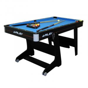 Pool Table de billard repliable 152x84x79cm + 2 queues