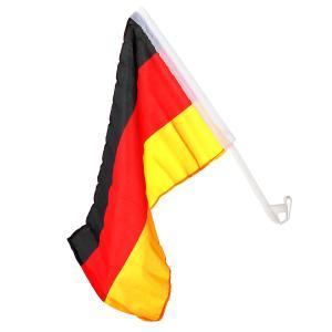 WM Fahne 2018 Auto Fahne Deutschland Schwarz Rot Gold Fussball Flagge Stiellänge 40cm