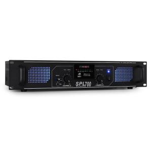 SPL-700 Amplificador PA HiFi 2 x 350 W  USB-SD-MP3 Preto | MP3-Player | 2x 350 W (4 Ohm)