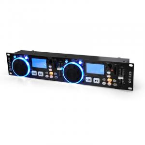DJ-MP3-speler Skytec STC-50 2 Decks USB SD Scratching