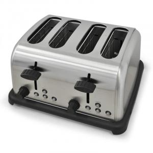 TK-BT-211-S Grille pain toaster 4 tranches 1650w inox -argenté Argent