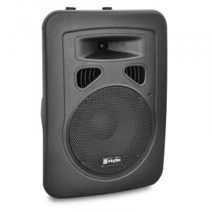 Aktywne 20 cm głośniki PA Skytec 200W, wejście XLR, mikrofon