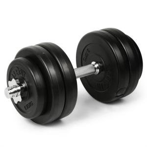 DS1S15 1x Dumbbell with 6 Free Weight Pieces 15kg 15 kg