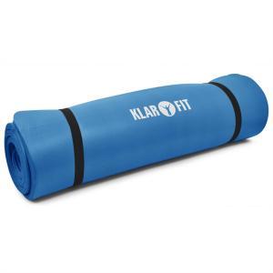 Yogamatta Klarfit 190 x 80 cm 15 mm träningsmatta blå Blå
